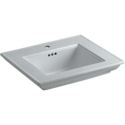 Memoirs Stately 24.5 in. Console Sink Basin in Ice Grey