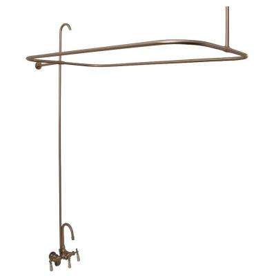 3-Handle Claw Foot Tub Faucet without Hand Shower in Brushed Nickel