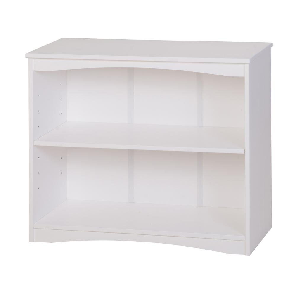 Essentials White 36 in. W Wooden Bookcase