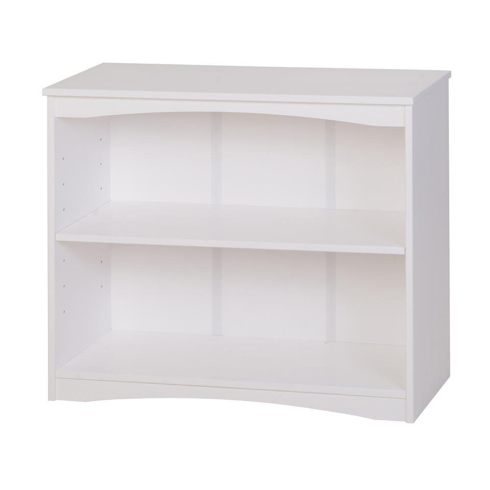 Essentials White 36 in. W Wooden Bookcase