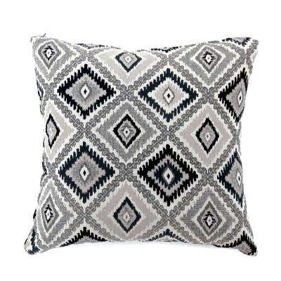 Deamund 22 in. Black Contemporary Standards Throw Pillow (Set of 2)