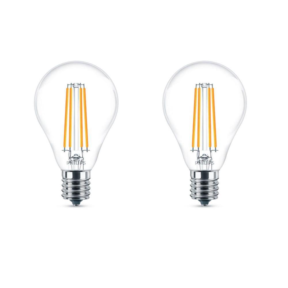 Philips 60-Watt Equivalent A15 Dimmable LED  Light Bulb ...