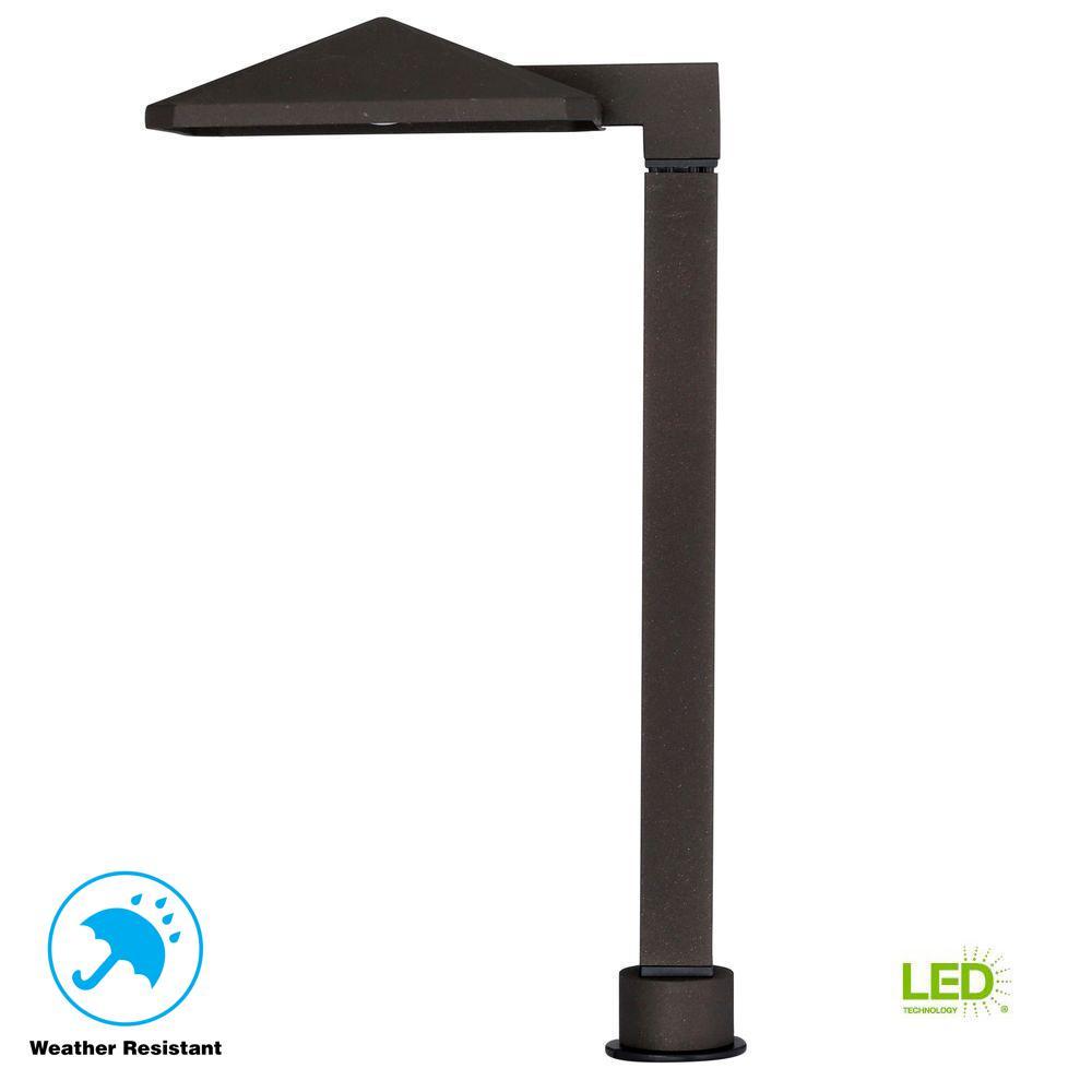 Low-Voltage 10-Watt Equivalent Bronze Outdoor Integrated LED Landscape Path Light