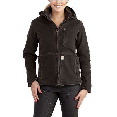 Women's Large Dark Brown/Shadow Sandstone Full Swing Caldwell Duck Jacket