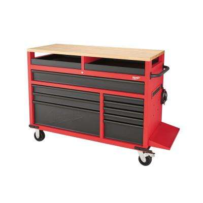 52 in. 11-Drawer Mobile Work Center