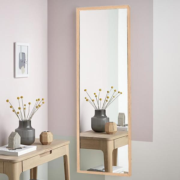 57 in. x 15.7 in. Classic Rectangle Wood Framed Full Length Standing Mirror