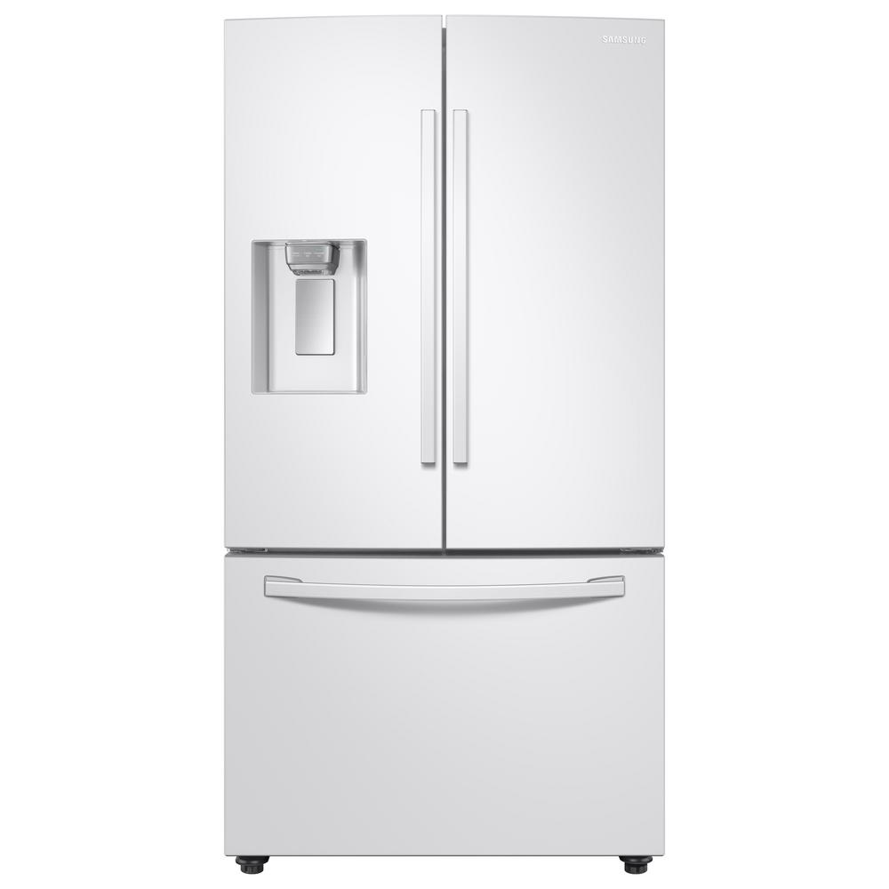 Samsung 28 Cu Ft 3 Door French Door Refrigerator In White With Coolselect Pantry