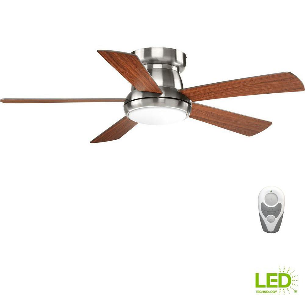 Hunter Contempo 52 In Indoor Brushed Nickel Ceiling Fan With Light Wiring Diagram Reversing Switch Led