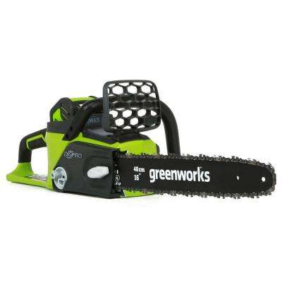 Digipro 16 in. 40-Volt Brushless Lithium-Ion Cordless Chainsaw - 4.0 Ah Battery and Charger Included