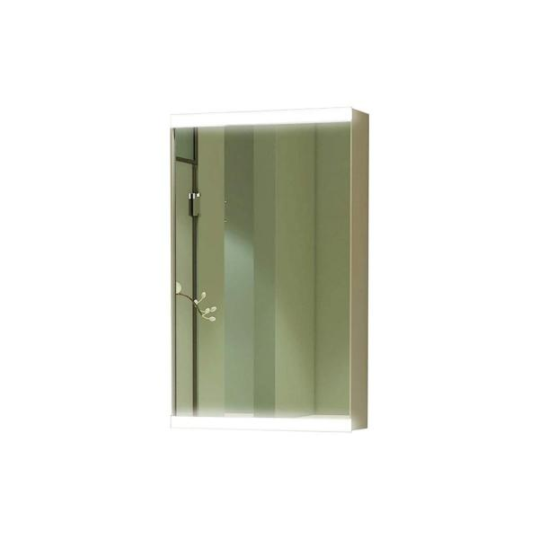 15 in. x 26 in. LED Surface Mount Medicine Cabinet in Mirror, Aluminum Frame