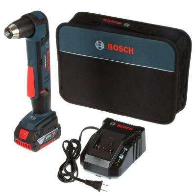 18 Volt Lithium-Ion Cordless 1/2 in. Variable Speed Right Angle Drill Kit with 4.0 Ah Battery