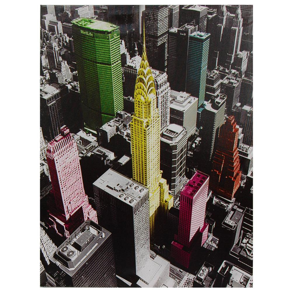 "Oriental Furniture 32 in. x 24 in. ""High-Lights of New York"""