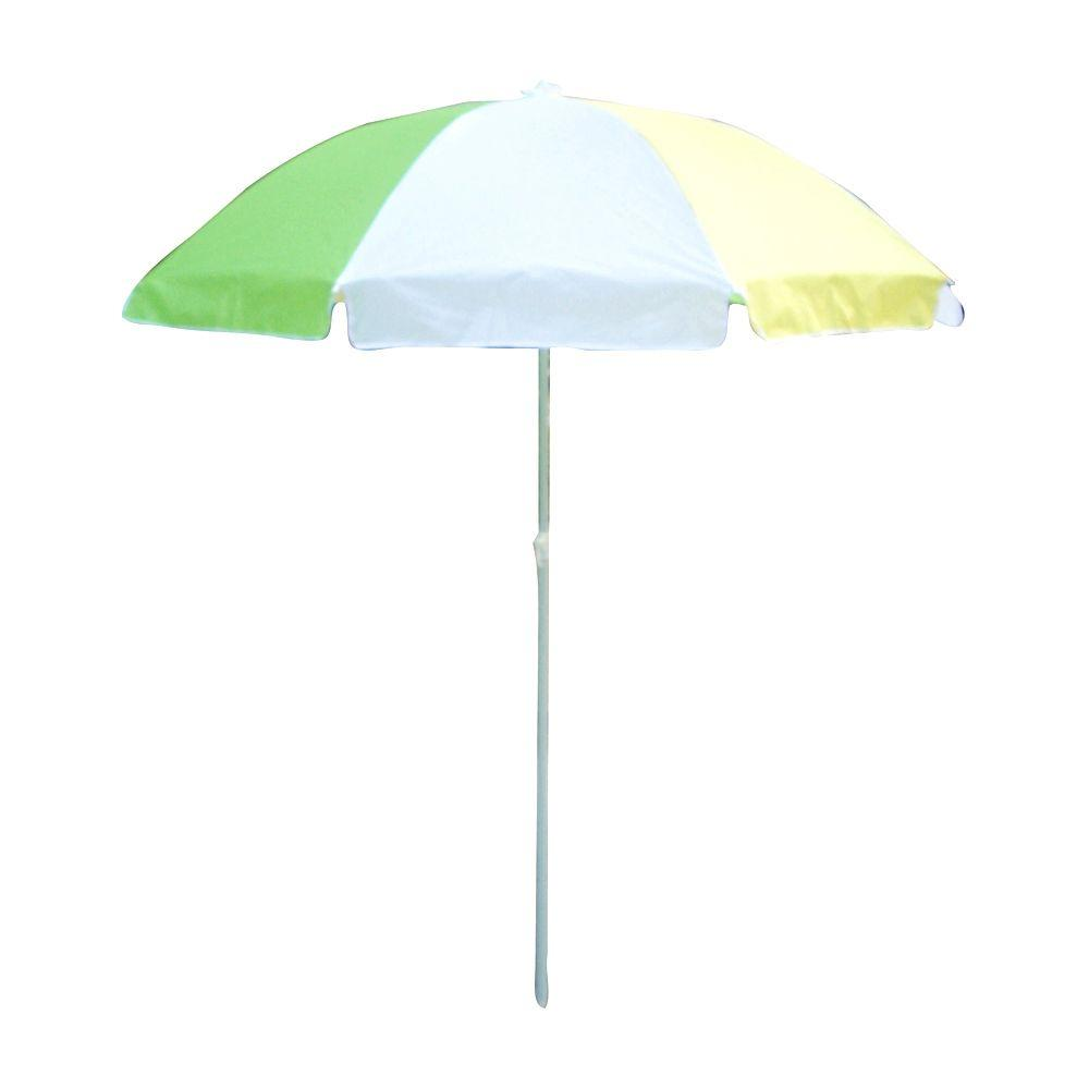 Lohasrus 32 in. Kids Patio Umbrella in Green/White/Yellow-MM40101 ...