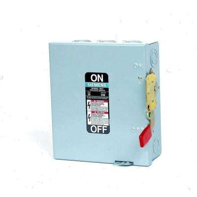30-Amp 240-Volt 240-Watt Outdoor Fusible Safety Switch