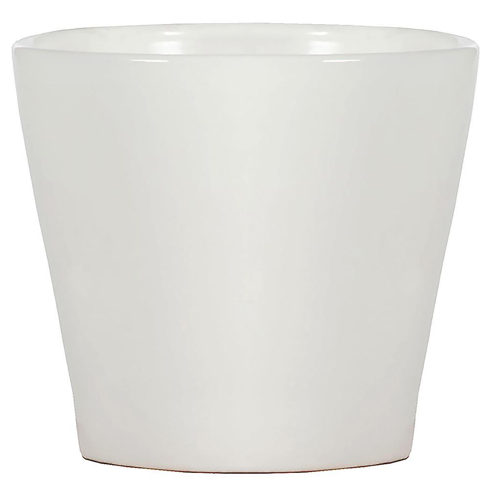 White Ceramic Slip Pot 12inslippotw