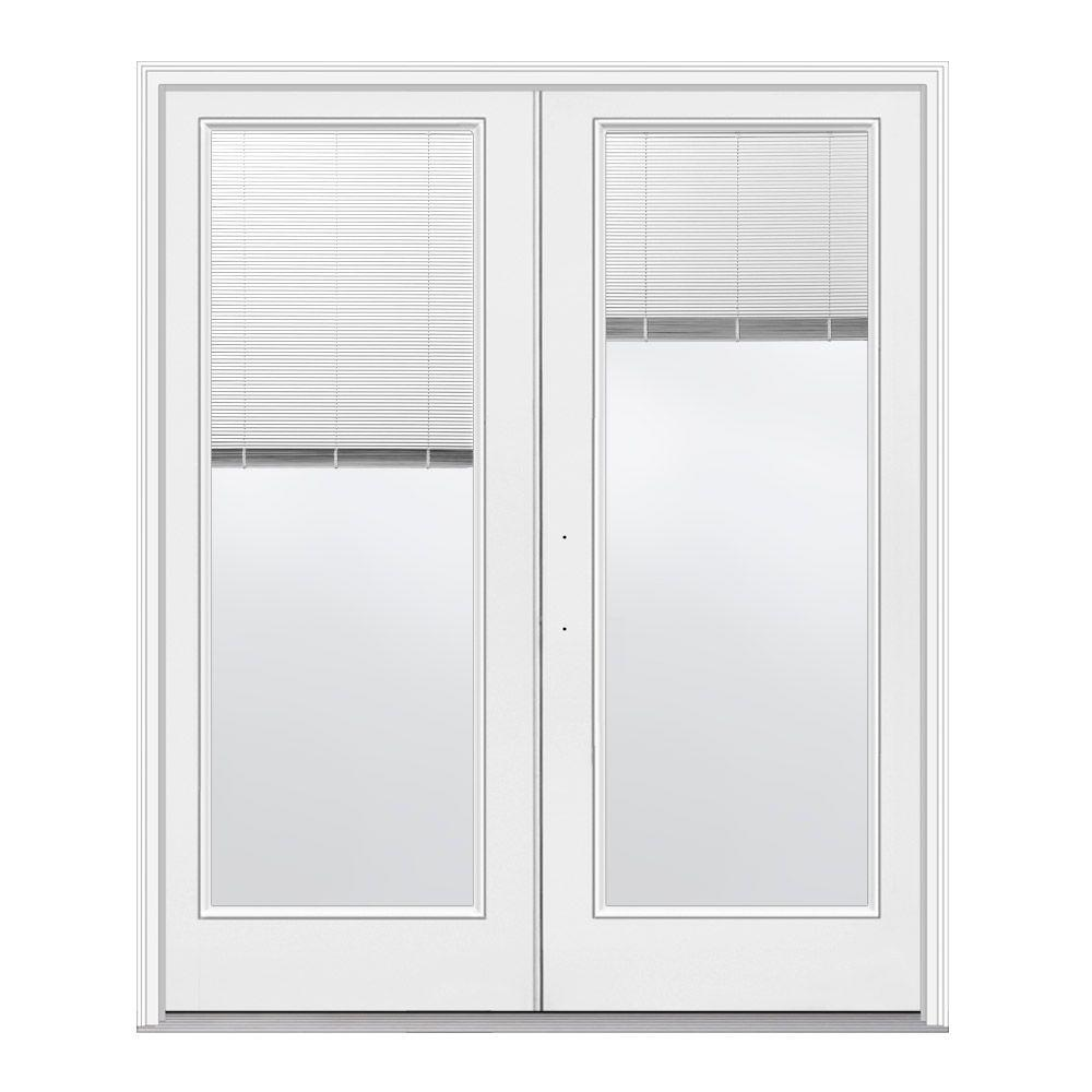 Jeld wen 72 in x 80 in primed white right hand outswing for White french doors exterior