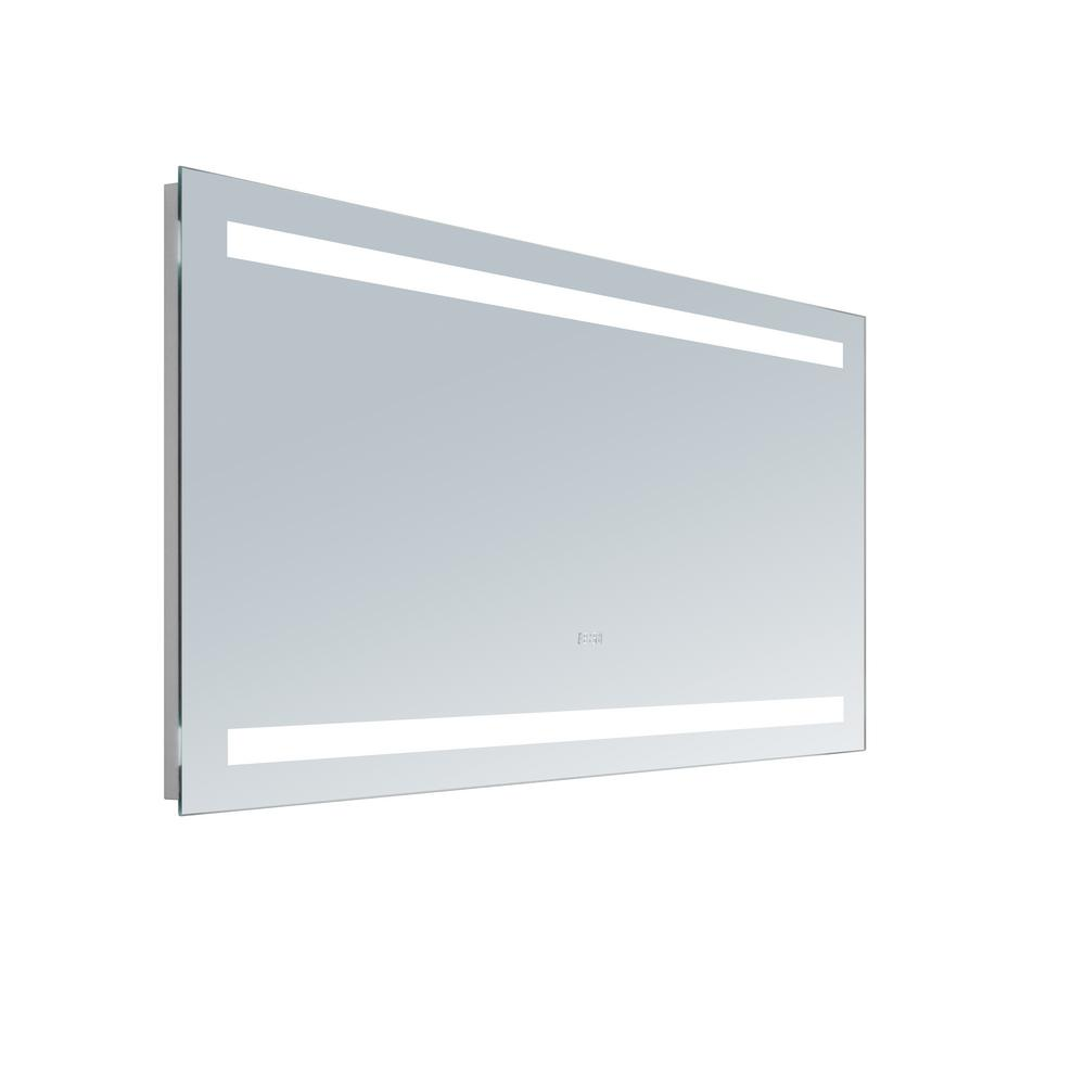 Innoci usa selene 50 in x 36 in led mirror 66115036 for Mirror 50 x 30