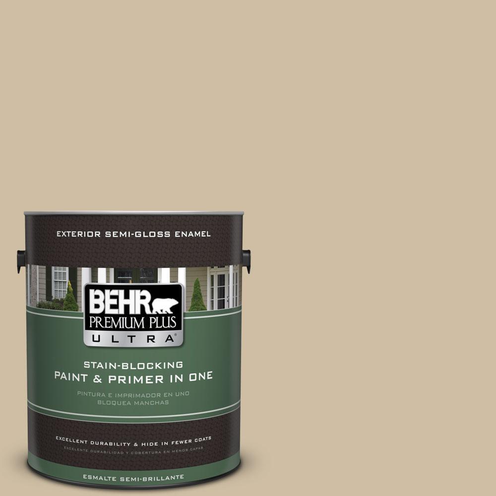 BEHR Premium Plus Ultra 1-gal. #PPU8-10 Rye Bread Semi-Gloss Enamel Exterior Paint