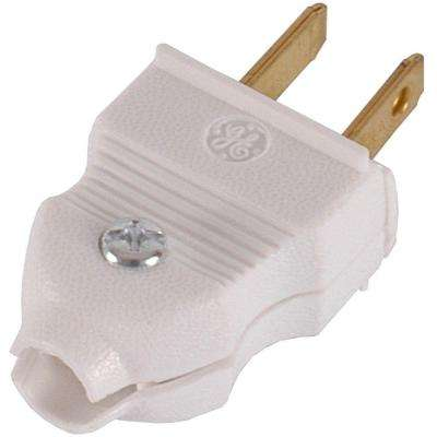 15 Amp Quick Wire Plug, White (2-Pack)