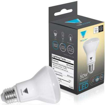 50-Watt Equivalent BR20 Dimmable LED Light Bulb Deco White