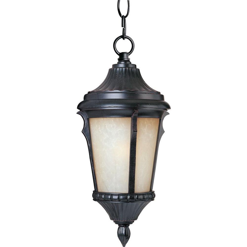 Odessa 1-Light Espresso Outdoor Hanging Lantern