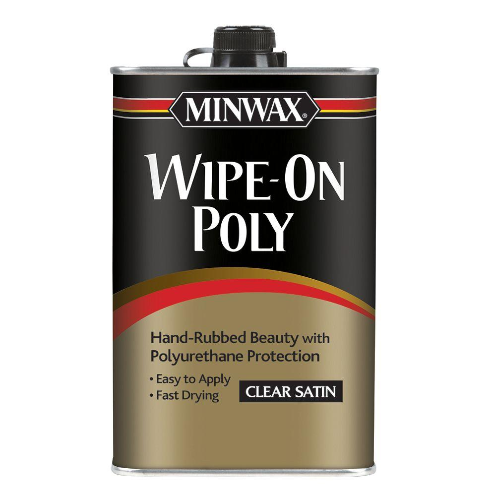 1 pt. Wipe-On Poly Clear Satin (6-Pack)