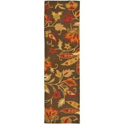 Blossom Brown/Multi 2 ft. x 11 ft. Runner Rug