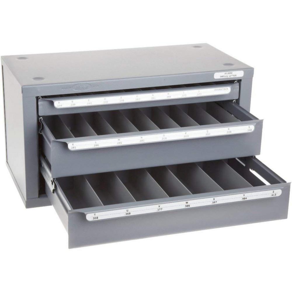 14-5/8 in. 3-Drawer A to Z Jobber Length Letter Size Drill Dispenser Tool Case