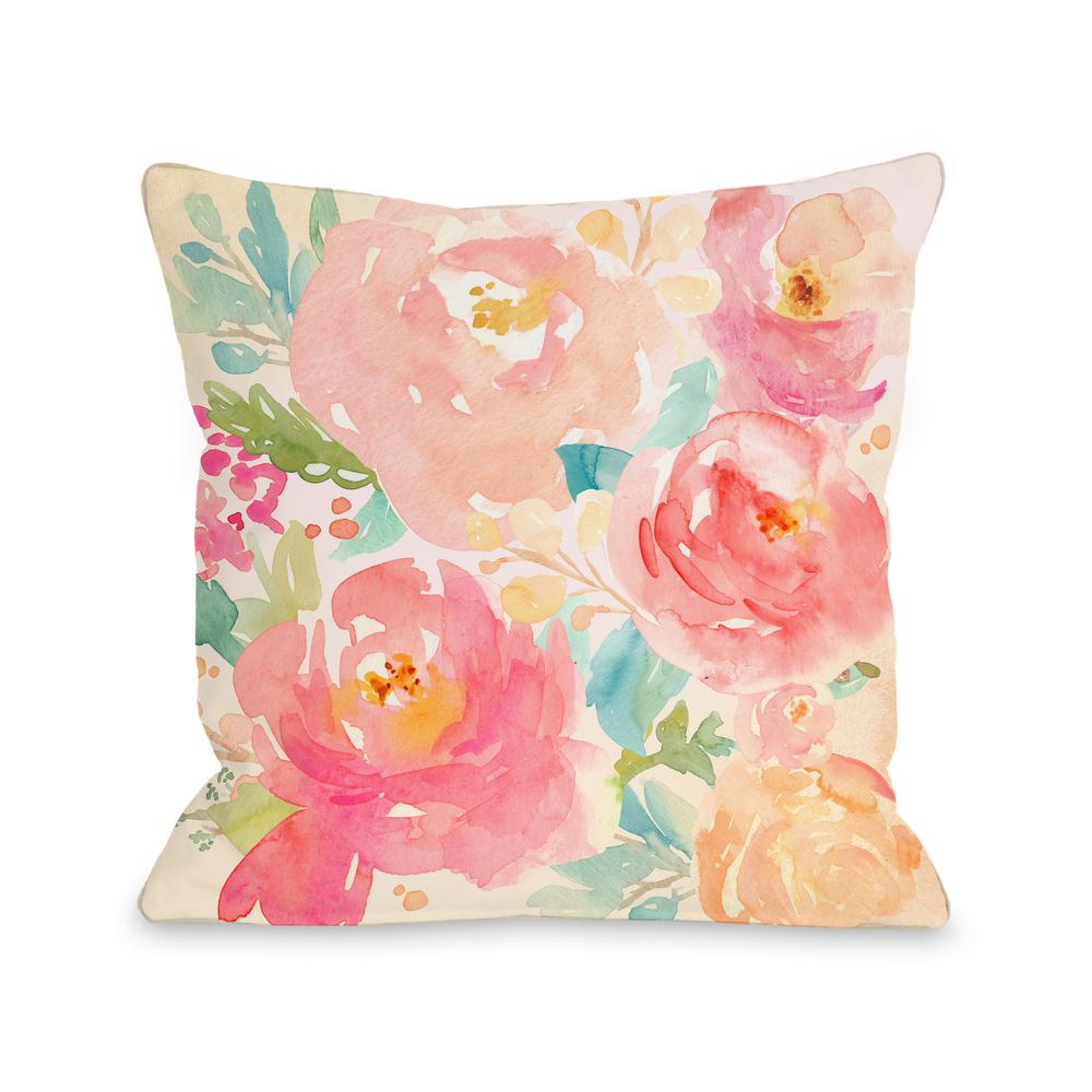 Popping Peonies Decorative Pillow