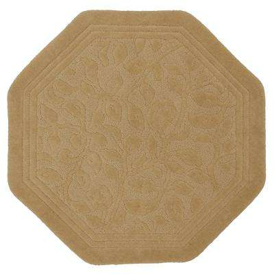 Wellington 48 in. x 48 in. Nylon Bath Rug in Deep Sand