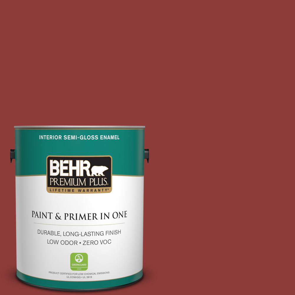 1-gal. #180D-7 Roasted Pepper Zero VOC Semi-Gloss Enamel Interior Paint
