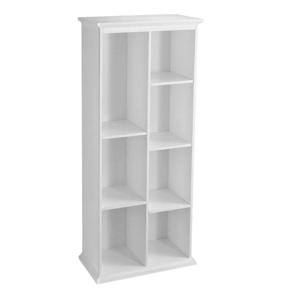 Southern Enterprises Barnett Crisp White Open Bookcase