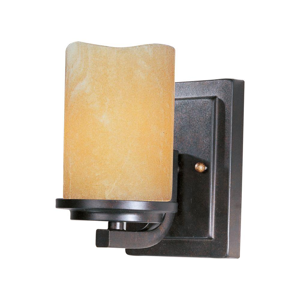 Maxim Lighting Luminous 1-Light Rustic Ebony Sconce