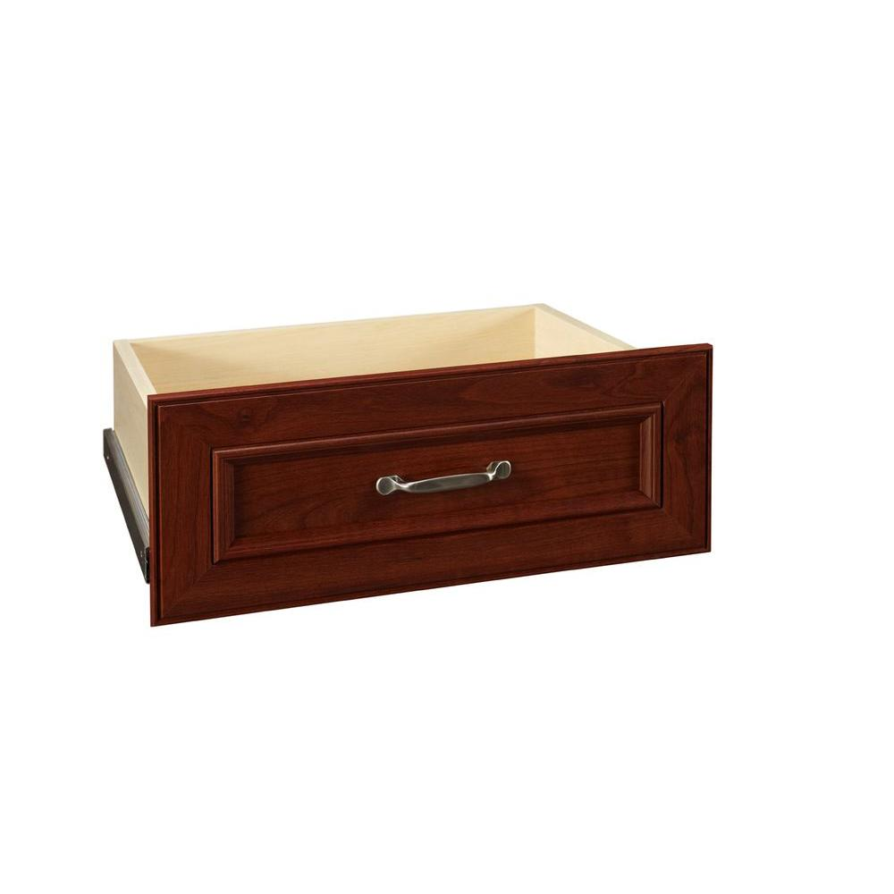 ClosetMaid Impressions 21.54 in. 8.7 in. Dark Cherry Deluxe Wood Drawer Kit
