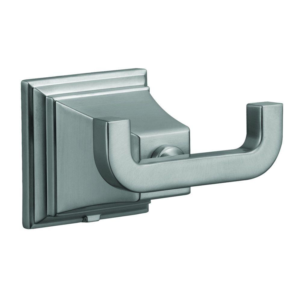 Torino Double Robe Hook in Satin Nickel