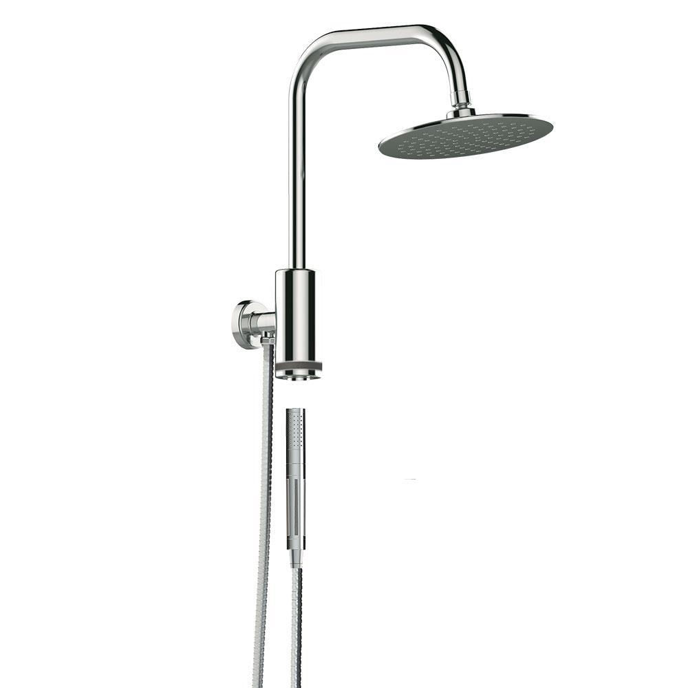 Chrome Switch with Hand Shower Nozzle Brass Pressure Rain /& Pulse Shower Bracket
