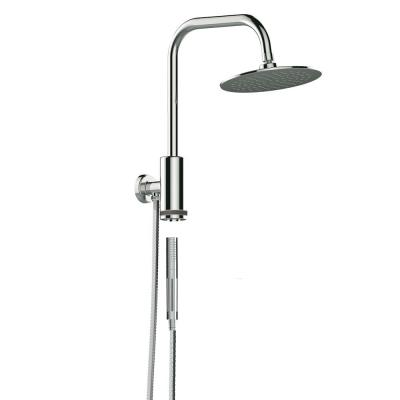 1-spray 8 in. Dual Shower Head and Handheld Shower Head with Waterfall in Chrome
