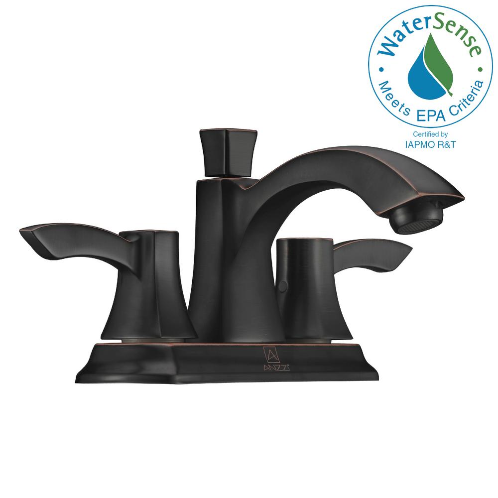 Delta Windemere 4 in. Centerset 2-Handle Bathroom Faucet with Metal ...