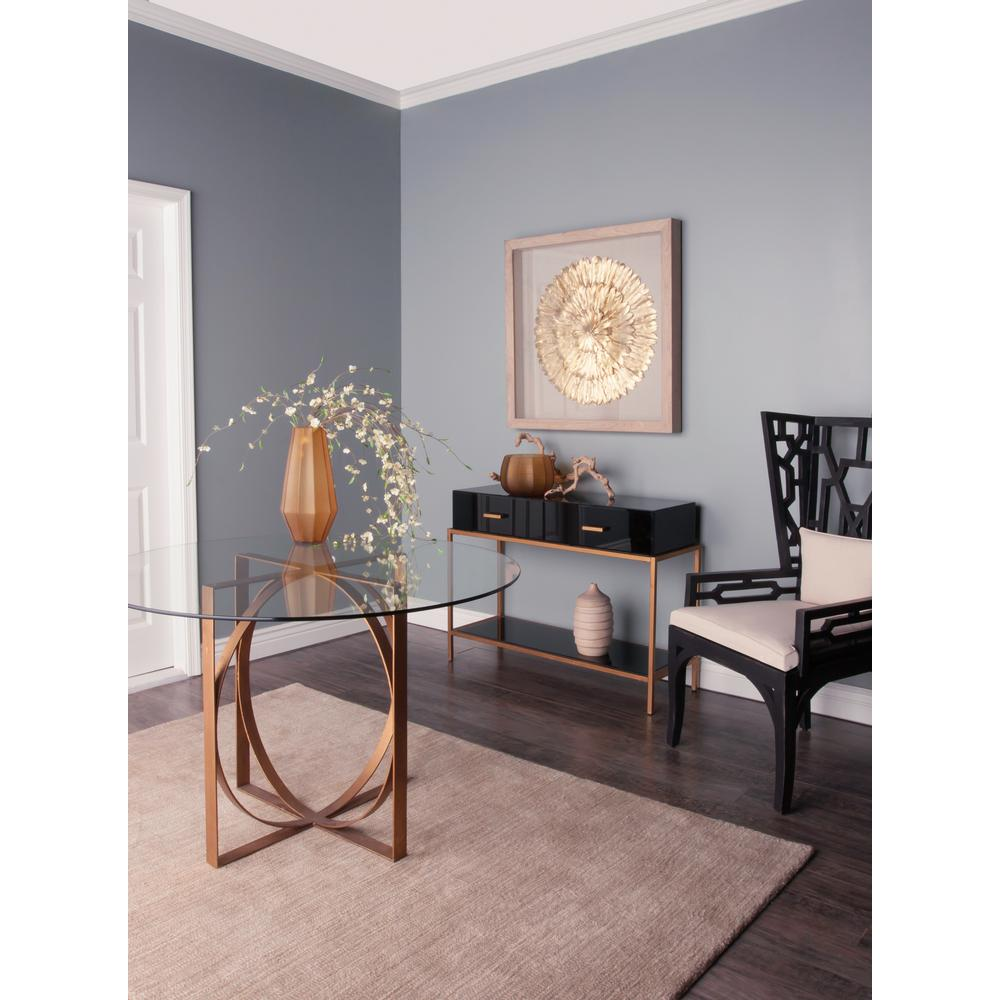Null Evans Black And Gold Storage Console Table