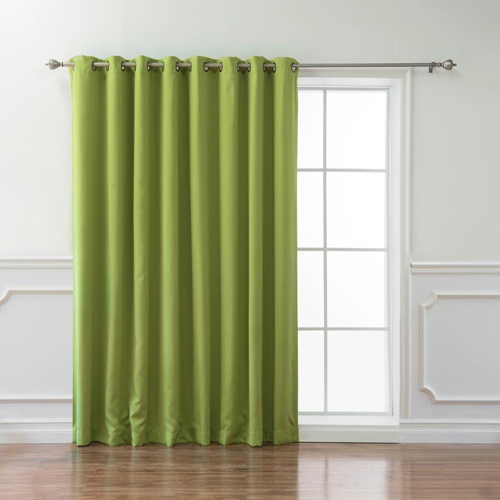 best home fashion wide basic 100 in w x 84 in l blackout curtain in avocado grom wide 100x84. Black Bedroom Furniture Sets. Home Design Ideas