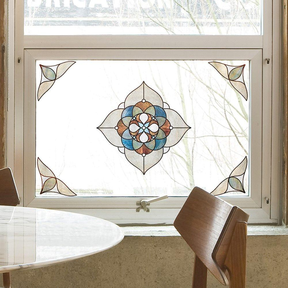 Venice Amber Medallion Decorative Window Film