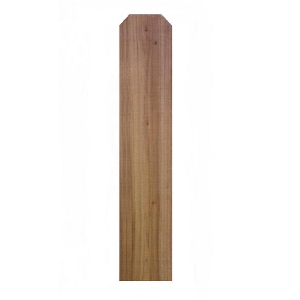 19/32 in. x 5-1/2 in. x 6 ft. Cedar Dog-Ear Kiln-Dried Fence Picket