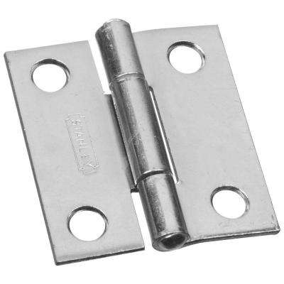 1-1/2 in. Narrow Utility Hinge Non-Removable Pin with Screws