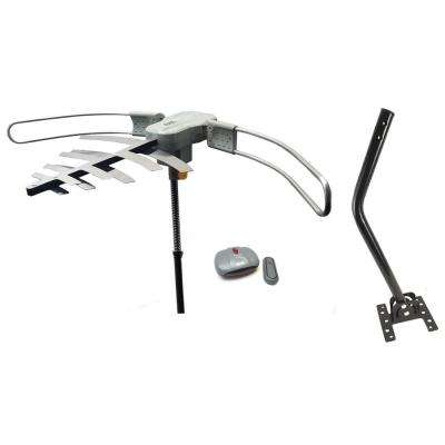 HDTV Digital Over Air Outdoor Amplified Antenna Remote Control Rotation High Band Long Range