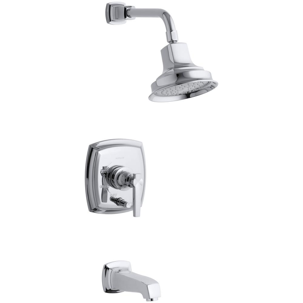 Margaux 1-Handle Rite-Temp Tub and Shower Faucet Trim Kit in Polished