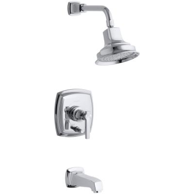 Margaux 1-Handle Rite-Temp Tub and Shower Faucet Trim Kit in Polished Chrome (Valve Not Included)