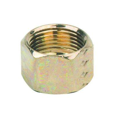3/8 in. O.D. Compression Nut in Polished Brass