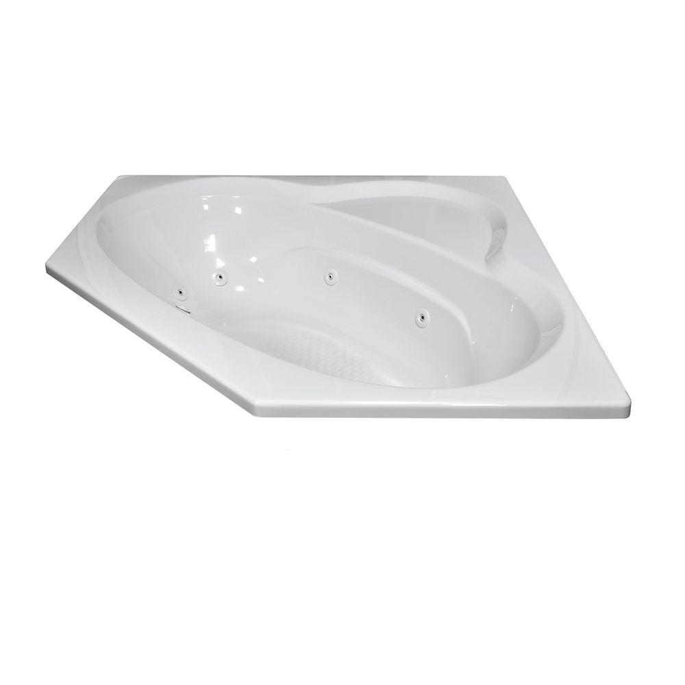 Lyons Industries Classic 5 ft. Whirlpool and Air Bath Tub in White