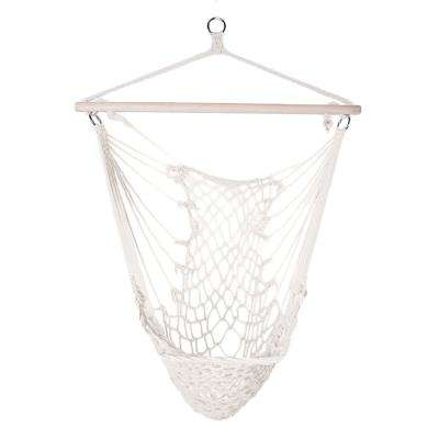 2.9 ft. Cotton Hanging Rope Air/Sky Chair Swing beige