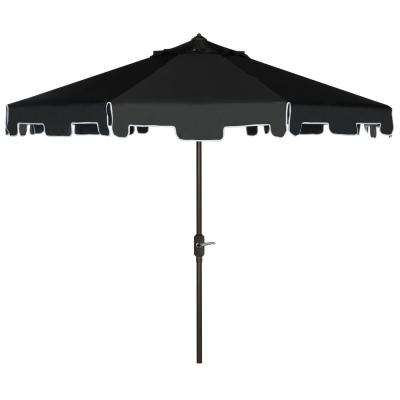 Zimmerman 9 ft. Aluminum Market Tilt Patio Umbrella in Black/White